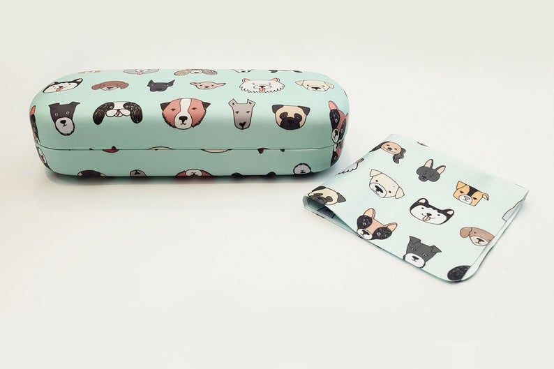 dog hard glasses case front view