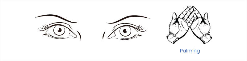 eye exercise palming