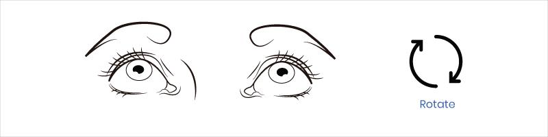 eye exercise rotate