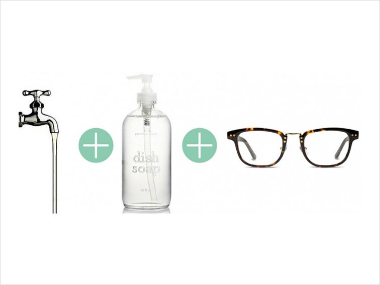 Use dish wash soap to clean lenses
