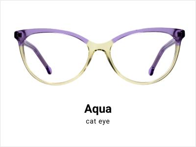 Aqua - Cat eye glasses
