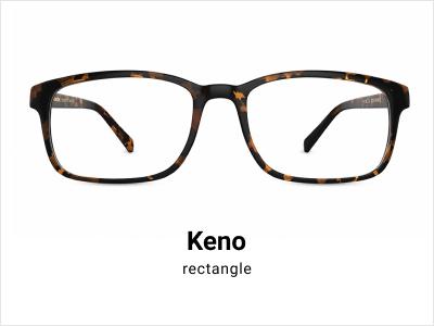 Keno - Rectangle tortoise shell glasses